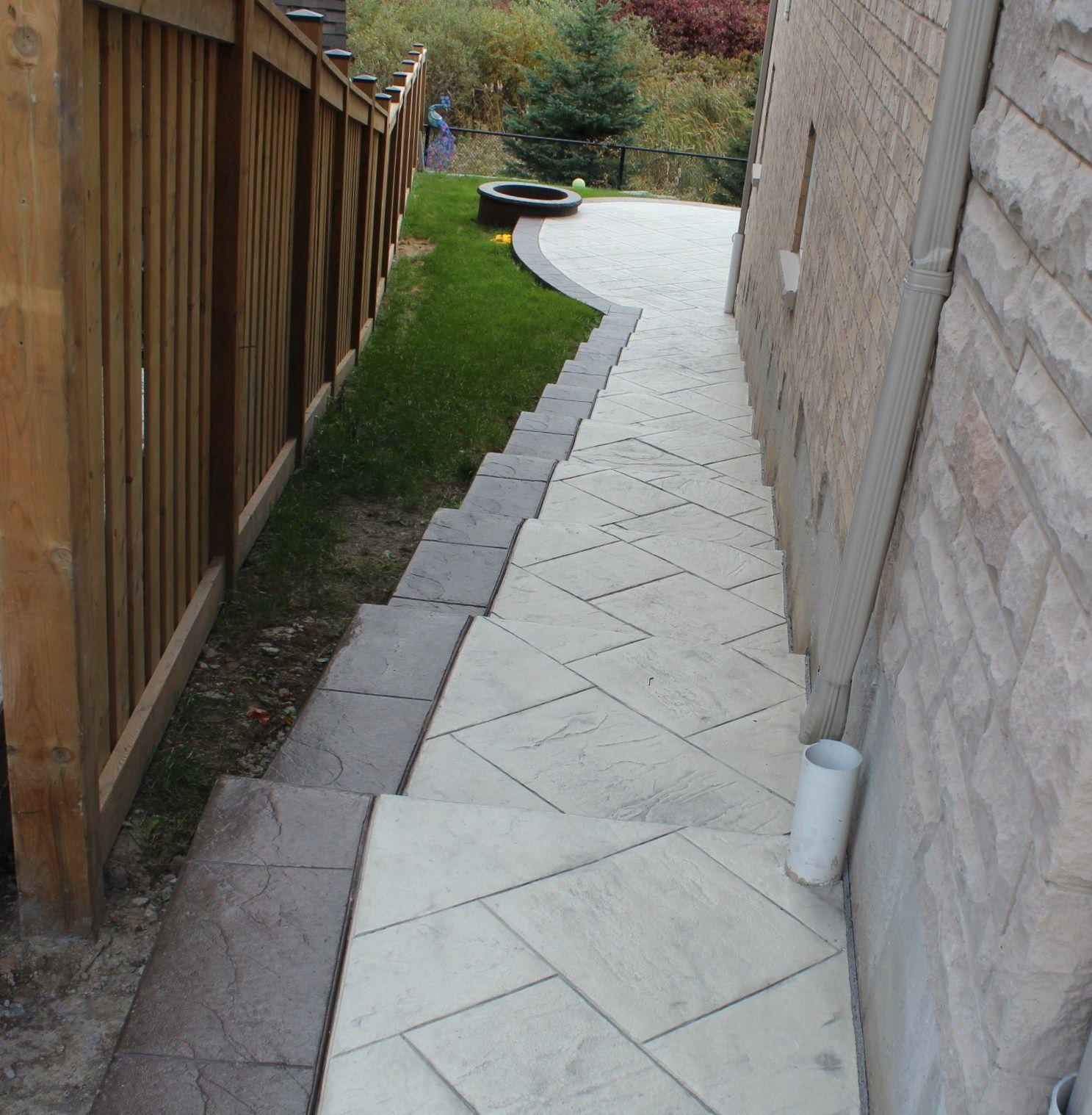 solocrete general contracting ltd stamped concrete poured